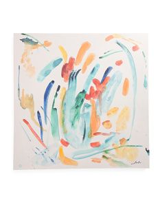 30x30 Abstract Lines Canvas Wall Art