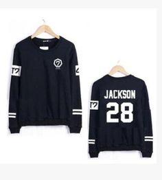 Hot Sell New Kpop GOT7 JB Jr. Unisex Cotton Pullover O-Neck Sweatshirt Women Hoodies