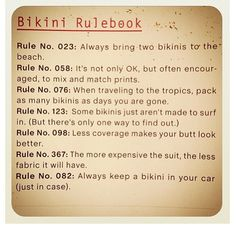 Bikini Rules