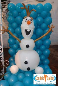 Frozen Olaf out of balloons