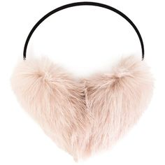 Yves Salomon Rabbit Fur Ear Muffs ($45) ❤ liked on Polyvore featuring accessories, yves salomon, rabbit fur earmuffs and rabbit earmuffs