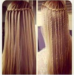 trança cachoeira em cabelo liso