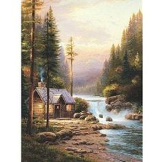 """Evening in the Forest"" - by Kinkade (64 pieces)"