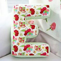 """Sewing Pillows No tutorial, but love the idea - might be able to create this just by playing with letter shapes - I made this pillow for Elin with a pattern from """"Stoff och stil"""". Sewing Pillows, Diy Pillows, Cushions, Throw Pillows, Pillow Ideas, Sewing Hacks, Sewing Tutorials, Sewing Patterns, Fabric Crafts"""