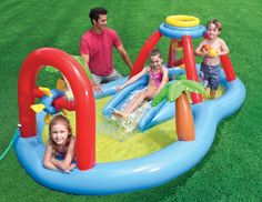 SALE ENDING IN 4HR  DON'T MISS THIS GREAT DEAL Intex Windmill Water Spray Play Outdoor Inflatable Swimming Pool With Fun Slide  #Intex