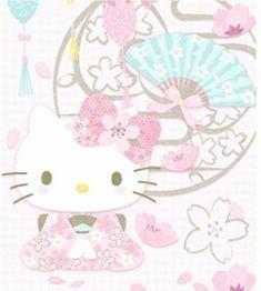 Hello Kitty / Cerisiers en fleurs