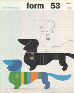 {form 53} Otl Aicher - cool doxie graphic art