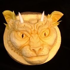 Panther is a 3D Pumpkin Carving by Theressa Wright