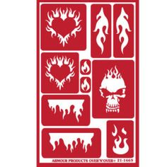 Flame Art Reusable Glass Etching Stencils.