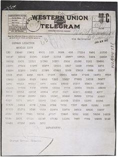 The Secret German Scheme To Invade America Before The First World War. German Foreign Secretary Arthur Zimmerman Telegraph.