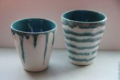 Стаканы керамические Он и Она - керамика ручной работы
