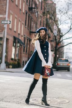Cute Girly Fashion Outfits Ideas For Fall to Upgrade Your Look Source by tenminutesagoo Winter fashion Preppy Outfits, Mode Outfits, Classy Outfits, Fall Outfits, Vintage Outfits, Fashion Outfits, Fashion Trends, Fall Dresses, Modest Winter Outfits