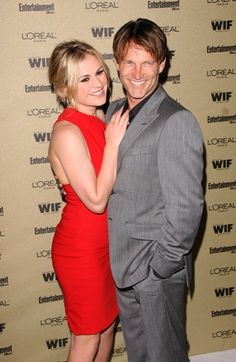 Anna Paquin and Stephen Moyer attend a pre-Emmy party