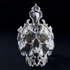 Porcelain skull by Katsuyo Aoki.