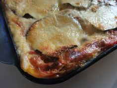 Eggplant Lasagna Recipe, a very unusual one from Verona. Light with no heavy cheeses just béchamel, marinara and parmesan.