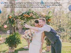 Selfies at Weddings Can Actually Be Charming, Okay? | Photo by: Beauty of Grace Photography | TheKnot.com
