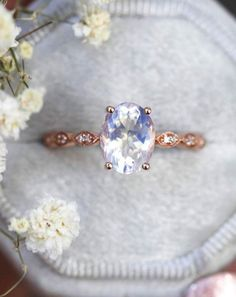 Exquisite Hochzeit Schmuck 925 Silber Weiß Saphir Ring Prinzessin Lssed