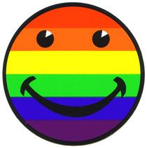 Rainbow Stickers & Decals - Gay Pride Stickers - Lesbian Pride Stickers - Bi Pride Stickers - It's a rainbow full of sound! Under The Rainbow, Love Rainbow, Rainbow Colors, Happy Smiley Face, Happy Faces, Smiley Faces, Rainbow Magic, Unity In Diversity, Happy Fun