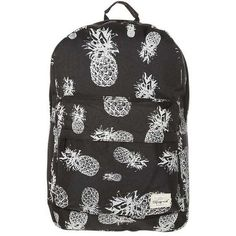f5b8be5831 Spiral Bags Rucksack pineapple black (31 CHF) ❤ liked on Polyvore featuring  bags, backpacks, daypack bag, day pack backpack, pineapple print bag,  pineapple ...