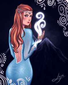 """173 curtidas, 3 comentários - Lexa  (@lexaart96) no Instagram: """"Hi guys! This is the full version of my Feyre painting I did for @bookishandstuff !! It will be…"""""""