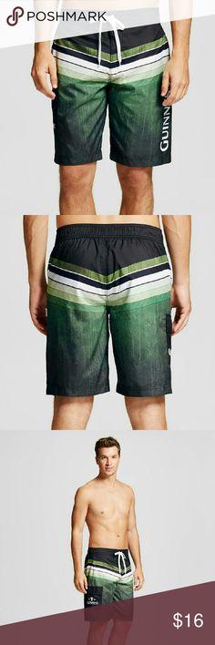 Men's Guinness Striped Board Shorts Men's Guinness Striped Board Shorts brand new guinness Swim Board Shorts
