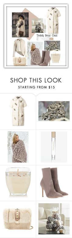 """My Teddy Bear Coat"" by julejoon ❤ liked on Polyvore featuring Erdem, Talbots, Matter and Home, Gianvito Rossi, Valentino, Crate and Barrel and Burberry"