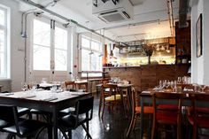 Brawn: Laid-back restaurant with some honest and tasty food. Wine list is filled with natural wines from interesting producers. Try the Selection of Charcuterie with all things pig. Delicious! Make a reservation. (London, England)