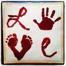 Love - Handprint and Footprint Kids Craft #Kids #Valentines #Crafts #ValentinesDay