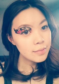 1 Pair of Temporary Tattoo Makeup for Eyes Eyelids Black Floral Pattern for Spring Summer Party Club via Etsy