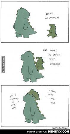 Cute lil' Godzilla