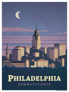 Philadelphia Poster by IdeaStorm Studios ©2017. Available for sale at ideastorm.bigcartel.com