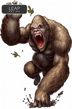 Angry gorilla trying early motion capture