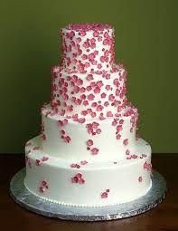 #wedding cake #pink #flowers