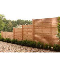 Naturbelassenes Lärchenholz • edelstahlbefestigt ✓ Vorgartenzaun Rhombus Lärche Natur 180 cm x 90 cm ➜ Sichtschutzzäune bei OBI kaufen und bestellen