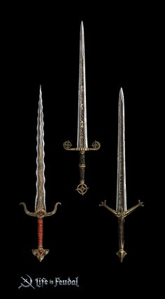 Concept art for the Life is Feudal MMO Fantasy Book Series, Fantasy Books, Fantasy Sword, Fantasy Weapons, Bastard Sword, Sword Design, Swords And Daggers, Republic Day, Making Out