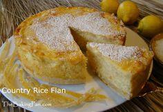 Country Rice Flan Recipe - TheBakingPan.com - How to Make Country Rice ...