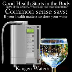 Kangen Water® Hydrogen-rich electrolyzed water. It appears that H2 might be a possible antioxidant according to many published research articles. Best tasting drinking water.