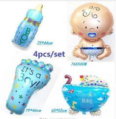 Hot 4pcs/set air balloon baby boy/girl balloon helium ballons for baby birthday party