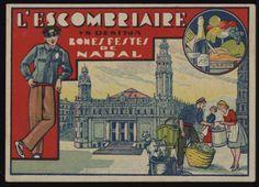 L'Escombriaire vs desitja Bones Festes de Nadal. Any 1920. Fons Joan Amades. #Nadal #Christmas #greeting #card