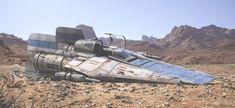 ArtStation - RZ-1 A-wing interceptor down, Antonis Karidis