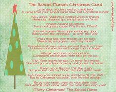 Christmas School Nurse Printable
