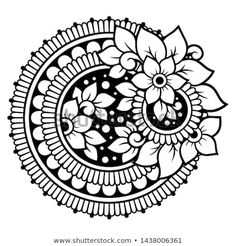 Find Circular Pattern Form Mandala Flower Henna stock images in HD and millions of other royalty-free stock photos, illustrations and vectors in the Shutterstock collection. Thousands of new, high-quality pictures added every day. Doodle Art Designs, Mehndi Art Designs, Beautiful Rangoli Designs, Mehndi Designs For Hands, Mandala Art Lesson, Mandala Artwork, Mandala Drawing, Flower Henna, Flower Mandala