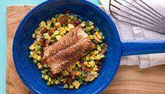 Porcini-Dusted Miso Alaska Cod over Summer Vegetable Succotash | Wild Alaska Seafood