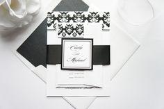 Damask Wedding Invitation - SAMPLE SET
