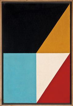 """Fractions #17 1960 / Frederick Hammersley (1919-2009)  was a critically acclaimed American abstract painter whose participation in the landmark 1959 Four Abstract Classicists exhibit secured his place in art history, as the first """"hard edge"""" artists. He painted cool abstractions which were very different from the emotional ones of the established abstract expressionist movement."""