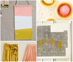 mustard yellow + dusty pink palette