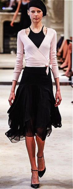 Ralph Lauren. Makes me think of ballet clothes. Love the neckline of the dress