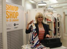 Joanna Lumley at the M and #Oxfam Shwop Shop