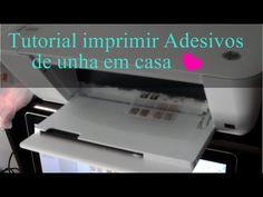 Como fazer adesivo de unha na impressora em casa - YouTube Pedicure Nails, Manicure, Nail Designs, Nail Art, Prints, How To Make, Videos, Nail Stickers, Nail Art Videos