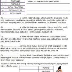 Odborné texty pro děti II. Chemistry, Biology